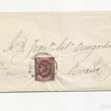Francobolli: ENVUELTA CIRCULADA 1863 DE ALMERIA A RIVADEO LUGO RUEDA CARRETA 17. Lote 217459232