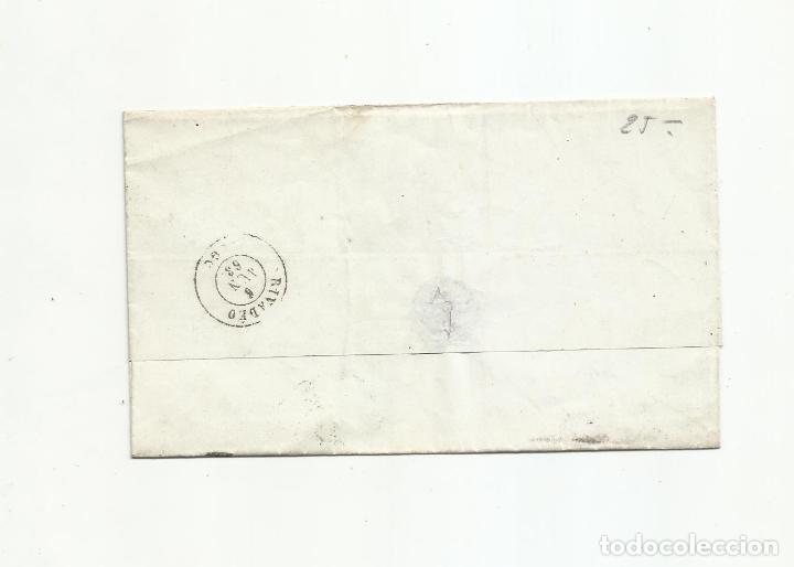 Sellos: ENVUELTA circulada 1863 DE ALMERIA A RIVADEO LUGO RUEDA CARRETA 17 - Foto 2 - 217459880