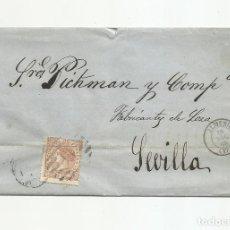 Sellos: ENVUELTA CIRCULADA 1868 DE ALMERIA A SEVILLA. Lote 217460236