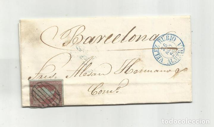 CIRCULADA Y ESCRITA 1855 DE VELEZ RUBIO ALMERIA A BARCELONA (Sellos - España - Alfonso XII de 1.875 a 1.885 - Cartas)