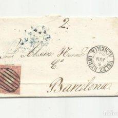 Sellos: CIRCULADA Y ESCRITA 1858 DE VELEZ RUBIO ALMERIA A BARCELONA. Lote 217461551