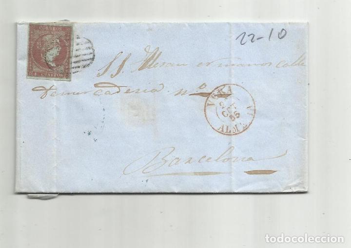 CIRCULADA Y ESCRITA 1855 DE VERA ALMERIA A BARCELONA (Sellos - España - Alfonso XII de 1.875 a 1.885 - Cartas)