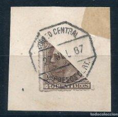 Sellos: SELLO DE ALFONSO XII DE 1887 - BISECTADO. Lote 217589158
