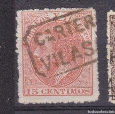 Francobolli: ALFONSO XII EDIFIL 210 MATASELLOS CARTERÍA VILASAR (BARCELONA).. Lote 217647655