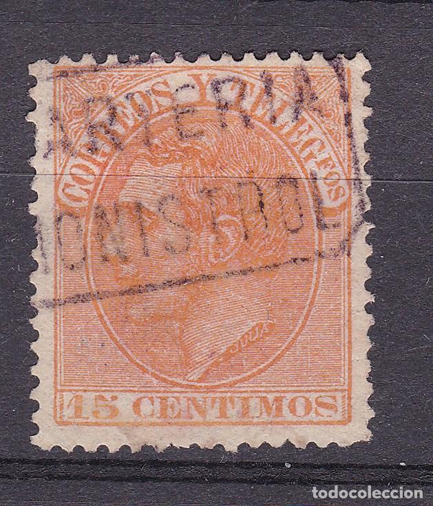 ALFONSO XII EDIFIL 210 MATASELLOS CARTERÍA MONISTROL (BARCELONA). (Sellos - España - Alfonso XII de 1.875 a 1.885 - Usados)