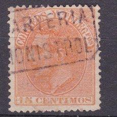 Francobolli: ALFONSO XII EDIFIL 210 MATASELLOS CARTERÍA MONISTROL (BARCELONA).. Lote 217648075