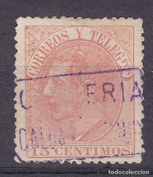 ALFONSO XII EDIFIL 210 MATASELLOS CARTERÍA CALDAS DE MBUY (BARCELONA). (Sellos - España - Alfonso XII de 1.875 a 1.885 - Usados)