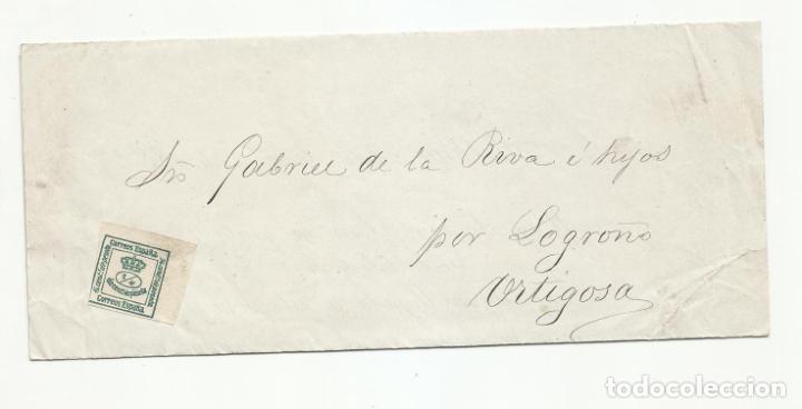 CIRCULADA Y IMPRESA 1883 DE BILBAO A ORTIGOSA POR LOGROÑO (Sellos - España - Alfonso XII de 1.875 a 1.885 - Cartas)