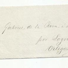 Sellos: CIRCULADA Y IMPRESA 1883 DE BILBAO A ORTIGOSA POR LOGROÑO. Lote 218721825