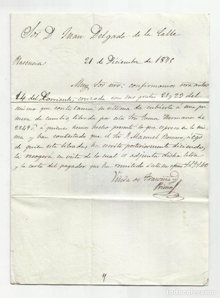 Sellos: circulada y escrita 1875 de madrid a plasencia - Foto 2 - 218723357