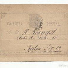 Sellos: ENTERO POSTAL EDIFIL 11 CIRCULADA 1890 DE BARCELONA A BERLIN ALEMANIA. Lote 218756167
