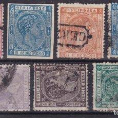 Sellos: LL24- COLONIAS FILIPINAS EDIFIL 34/ 40. USADOS. Lote 218947962