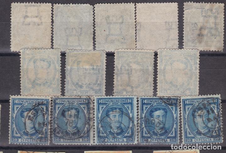 LL25- CLÁSICOS IMPUESTO GUERRA EDIFIL 175 X 14 SELLOS VARIEDADES Y MATASELLOS (Sellos - España - Alfonso XII de 1.875 a 1.885 - Usados)