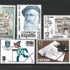 Sellos: ESPAÑA 1981 LOTE SELLOS SERIES COMPLETAS ** MNH - 17/30. Lote 219899680