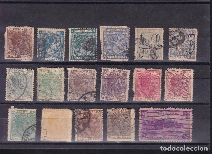 JJ17- CLÁSICOS COLONIAS PUERTO RICO X 17 SELLOS (Sellos - España - Alfonso XII de 1.875 a 1.885 - Usados)