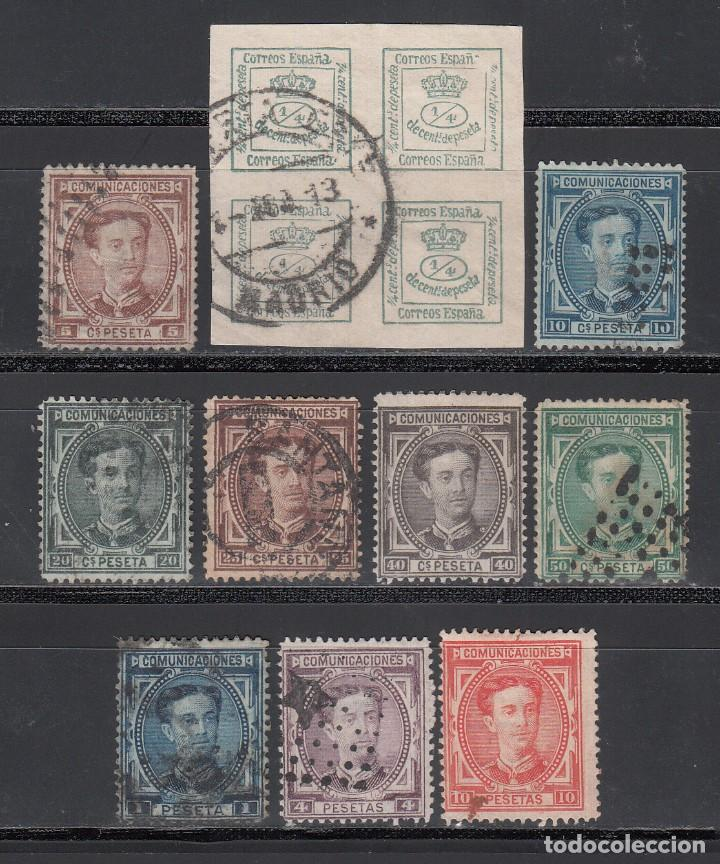 ESPAÑA, 1876 EDIFIL Nº 173 / 182, CORONA REAL Y ALFONSO XII. SERIE COMPLETA 10 VALORES (Sellos - España - Alfonso XII de 1.875 a 1.885 - Usados)