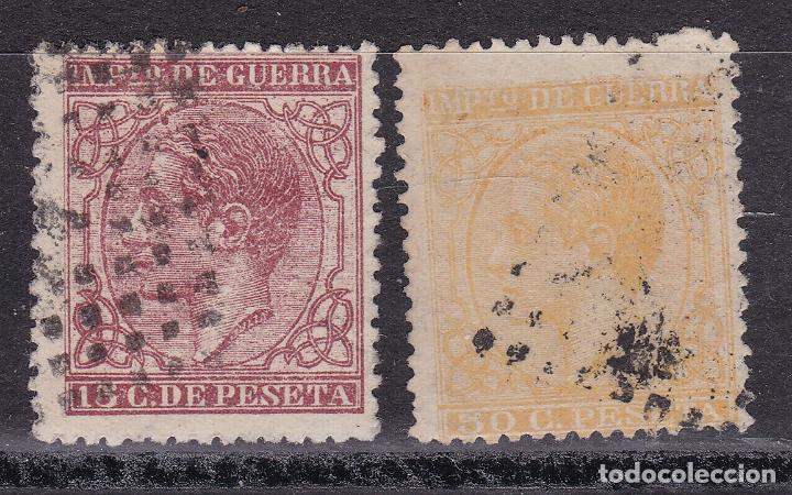 LL10-CLÁSICOS ALFONSO XII IMPUESTO DE GUERRA EDIFIL 188/89 USADOS PERFECTOS (Sellos - España - Alfonso XII de 1.875 a 1.885 - Usados)