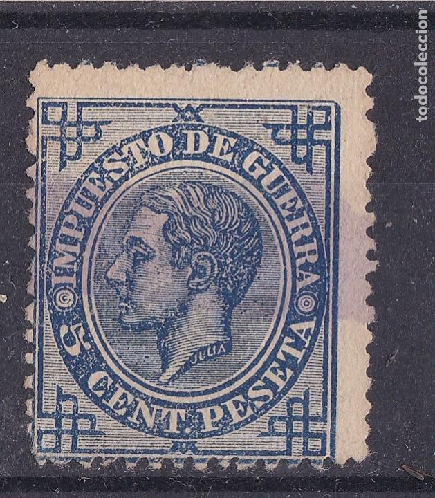 LL14- CLÁSICOS EDIFIL 183EC . ERROR COLOR AZUL. USADO (Sellos - España - Alfonso XII de 1.875 a 1.885 - Usados)