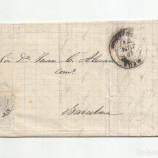 Sellos: CIRCULADA Y ESCRITA 1879 DE REUS TARRAGONA A BARCELONA. Lote 222463390