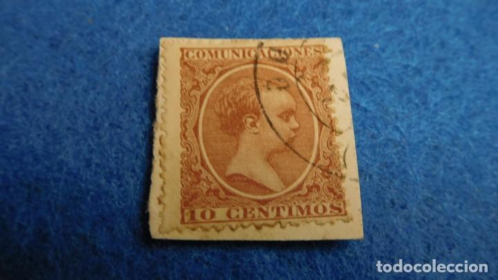 ESPAÑA COMUNICACIONES 10 CENTIMOS 1890S ALFONSO XIII S (Sellos - España - Alfonso XII de 1.875 a 1.885 - Usados)