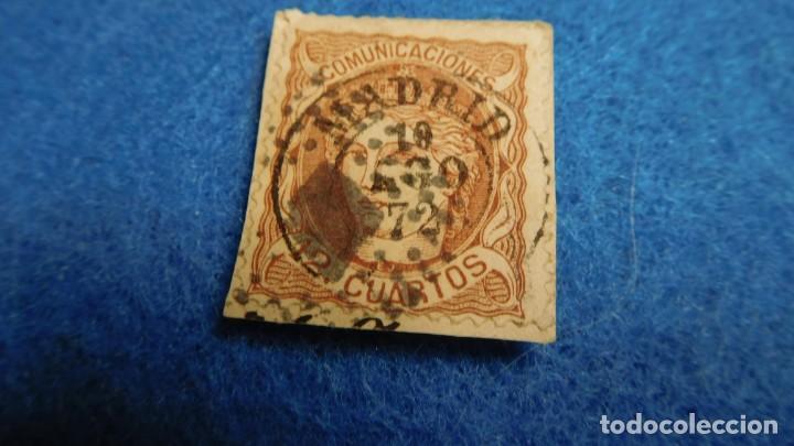 1870. SELLO DE 12 CUARTOS, USADO, ISABEL II (Sellos - España - Alfonso XII de 1.875 a 1.885 - Usados)