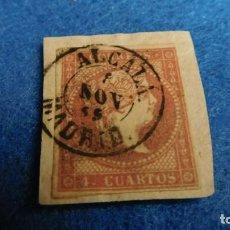 Sellos: ESPAÑA ISABEL II 4 CUARTOS 1855. Lote 223034351