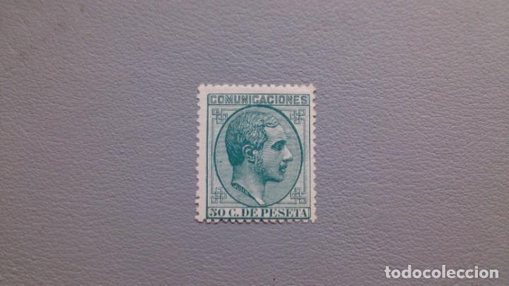 ESPAÑA - 1878 - ALFONSO XII - EDIFIL 196 - MH* - NUEVO - COLOR VIVO E INTENSO - VALOR CATALOGO 133€. (Sellos - España - Alfonso XII de 1.875 a 1.885 - Nuevos)