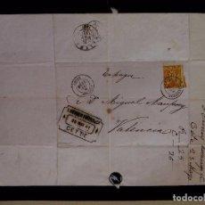 Sellos: ANTIGUA CARTA, MANUSCRITO COMERCIAL, MAYO DE 1881, CETTE, VALENCIA, BERNEX FRERES & CIE. Lote 224313978