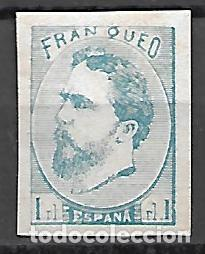 ESPAÑA CORREO CARLISTA SELLO Nº 156 FALSO FILATELICO NUEVO (Sellos - España - Alfonso XII de 1.875 a 1.885 - Nuevos)