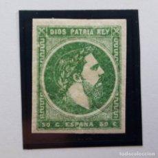 Sellos: EDIFIL 160, 50 CENTS, CORREO CARLISTA, NUEVO CON CHARNELA, 1874. Lote 232091190