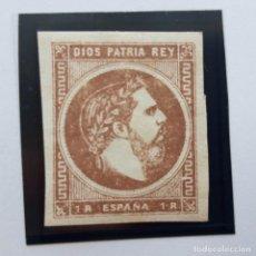 Sellos: EDIFIL 161, 1 REAL, CORREO CARLISTA, NUEVO CON CHARNELA, 1874. Lote 232091225