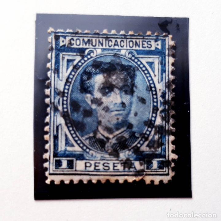 EDIFIL 180, 1 PESETA, USADO, ALFONSO XII, 1876 (Sellos - España - Alfonso XII de 1.875 a 1.885 - Usados)