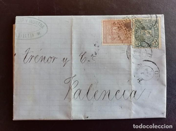 1875, CARTA A VALENCIA, CON EDIFIL 153 Y 154 (Sellos - España - Alfonso XII de 1.875 a 1.885 - Cartas)