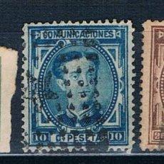 Sellos: ESPAÑA 1876 ALFONSO XII EDIFIL 173A 175 177 USADOS. Lote 238125400