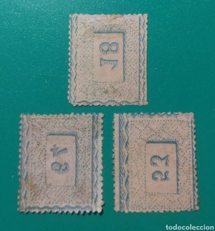Sellos: España. 1875. Edifil 162. 3 Sellos. Alfonso XII. - Foto 2 - 242002735