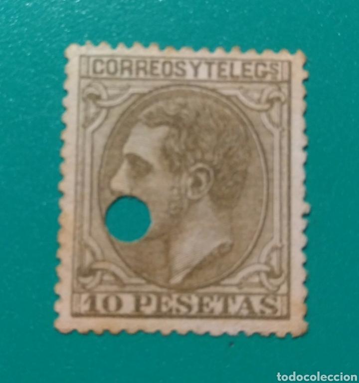 ESPAÑA. 1879. EDIFIL 209 T. ALFONSO XII. (Sellos - España - Alfonso XII de 1.875 a 1.885 - Usados)