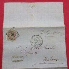 Francobolli: CARTA 1880. SAN SEBASTIÁN, LA HABANA.. Lote 242464480
