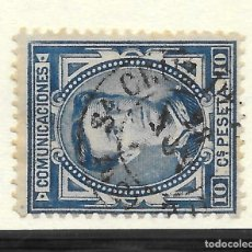Sellos: ALFONSO XII EDIFIL 175 10 CENTIMOS. CANARIAS FECHADOR DE SANTA CRUZ DE TENERIFE. Lote 243254430