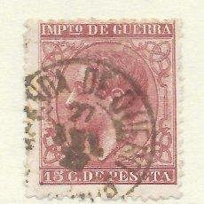 Sellos: ALFONSO XII EDIFIL 188 15 CENTIMOS. FECHADOR DE ARANDA DE DUERO. Lote 243257535