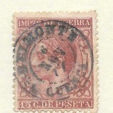 Sellos: ALFONSO XII EDIFIL 188 15 CENTIMOS. CUENCA FECHADOR DE BELMONTE. Lote 243257765