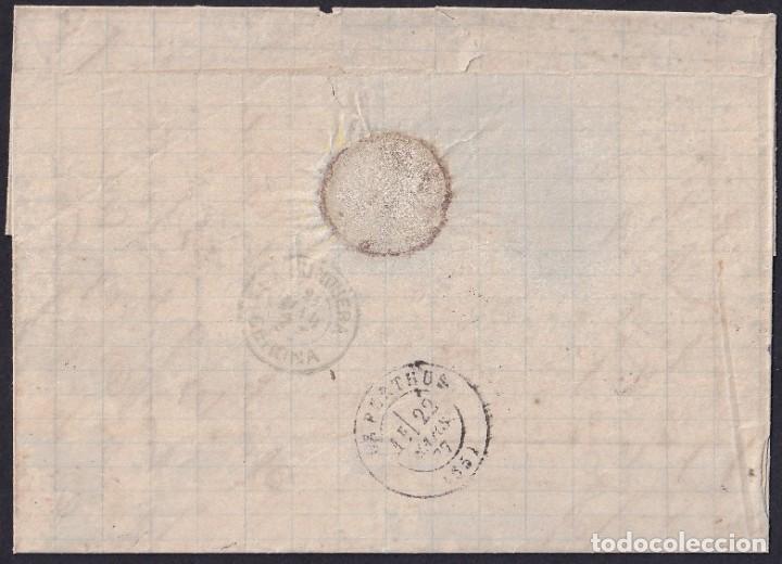 Sellos: 1877. AGULLANA A LE PERTHUS. 25 CTS. CASTAÑO ED.177 MAT. TALADRO PUNTOS LIMADOS. FECHADOR Y TRÁNSITO - Foto 2 - 243325395