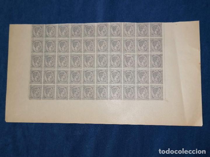 Sellos: España Falso Filatelico lote sellos 50 sellos pliego hoja nuevo Edifil 168 impreso años 1920 aprox - Foto 3 - 243926400