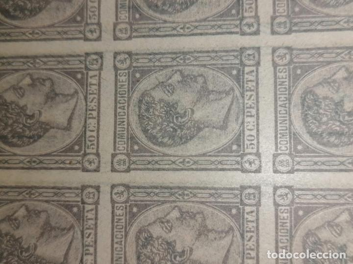Sellos: España Falso Filatelico lote sellos 50 sellos pliego hoja nuevo Edifil 168 impreso años 1920 aprox - Foto 6 - 243926400