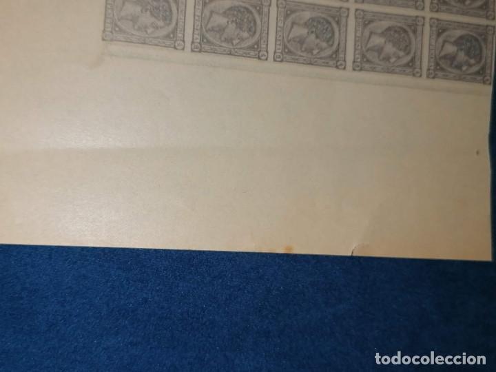 Sellos: España Falso Filatelico lote sellos 50 sellos pliego hoja nuevo Edifil 168 impreso años 1920 aprox - Foto 8 - 243926400