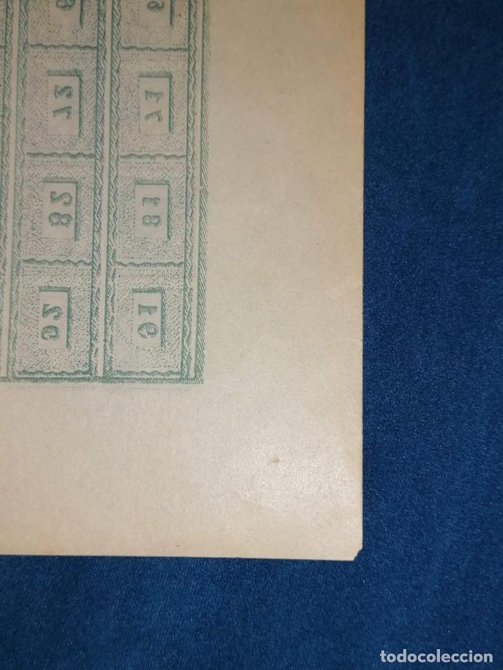 Sellos: España Falso Filatelico lote sellos 50 sellos pliego hoja nuevo Edifil 168 impreso años 1920 aprox - Foto 9 - 243926400