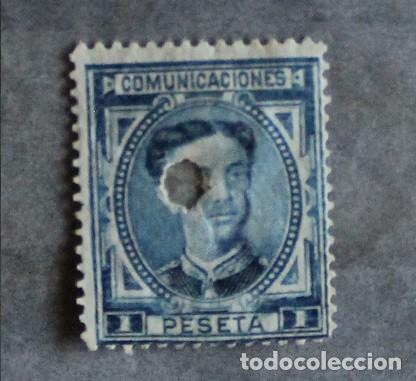 AÑO 1876 EDIFIL 180 T (Sellos - España - Alfonso XII de 1.875 a 1.885 - Usados)