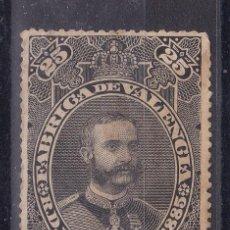 Sellos: SS42- FISCALES ALFONSO XII 25 CIGARRILLOS FÁBRICA DE VALENCIA. Lote 245210355