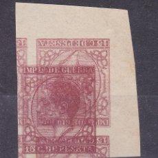 Sellos: SS43- CLÁSICOS IMPUESTO GUERRA EDIFIL 188 DOBLE IMPRESIÓN MACULATURA. (*) SIN GOMA. Lote 245285190
