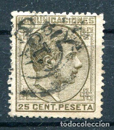 EDIFIL 194. ALFONSO XII. 25 CTS AÑO 1878. MATASELLADO (Sellos - España - Alfonso XII de 1.875 a 1.885 - Usados)