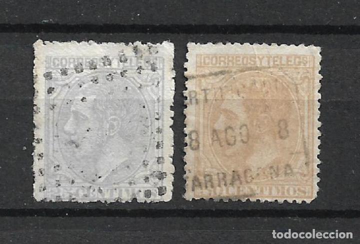 ESPAÑA 1879 EDIFIL 204 + 206 USADO - 1/6 (Sellos - España - Alfonso XII de 1.875 a 1.885 - Usados)